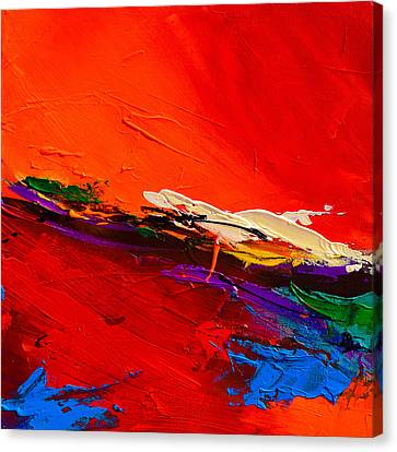 Red Sensations Canvas Print by Elise Palmigiani