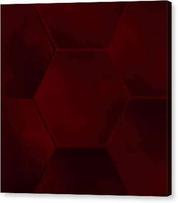Red Sexagon Canvas Print