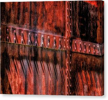 Canvas Print featuring the photograph Red Shadows by James Barber