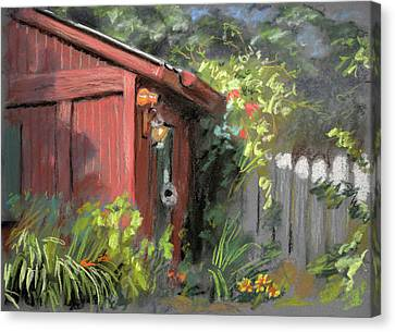 Red Shed Canvas Print by Christopher Reid