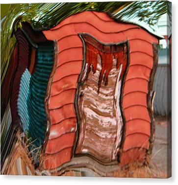 Red Shed Canvas Print by Lenore Senior
