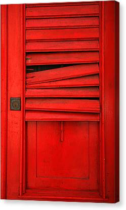 Red Shutter Canvas Print by Timothy Johnson