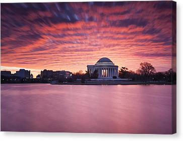 Canvas Print featuring the photograph Red Skies At Dawn by Edward Kreis