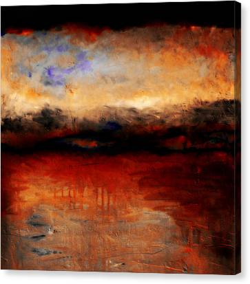 Red Skies At Night Canvas Print by Michelle Calkins