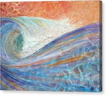 Red Skies In Morning Canvas Print by Arlissa Vaughn