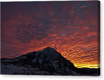 Red Sky At Morning Canvas Print by Dusty Demerson