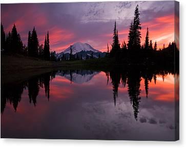 Lake Washington Canvas Print - Red Sky At Night by Mike  Dawson