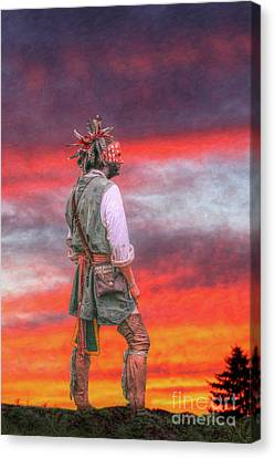 Red Sky At Night Canvas Print by Randy Steele