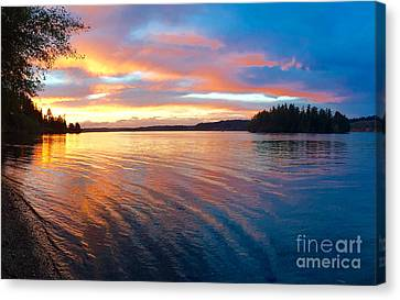 Red Sky At Night Canvas Print by Sean Griffin