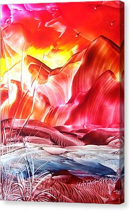 Red Sky At Night...... Canvas Print by Tezz J