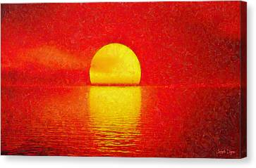 Red Sky - Da Canvas Print by Leonardo Digenio