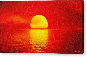 Red Sky - Pa Canvas Print by Leonardo Digenio