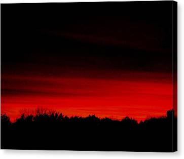 Red Sky Rising Canvas Print