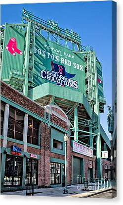 Red Sox 2013 Champions Canvas Print by Jerry Fornarotto