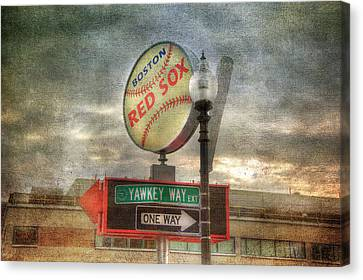 Red Sox Canvas Print - Red Sox Art - Boston by Joann Vitali