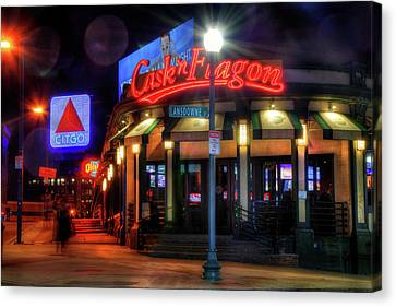 Red Sox Art - Cask N Flagon - Citgo Sign Canvas Print by Joann Vitali
