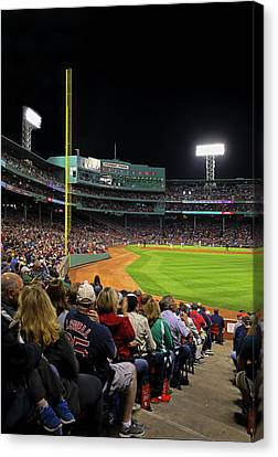 Canvas Print featuring the photograph Red Sox Nation At Boston Fenway Park by Juergen Roth