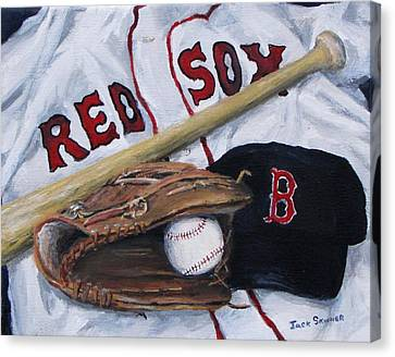 Red Sox Number Six Canvas Print
