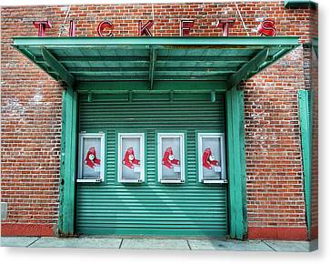 Red Sox Ticket Counter Canvas Print by SoxyGal Photography