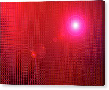 Red Space Canvas Print by Ramon Labusch