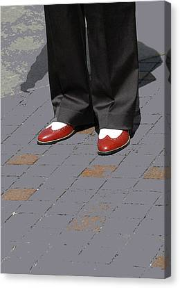 Red Spats Canvas Print