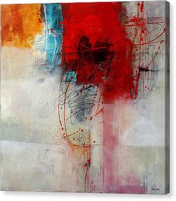 Red Splash 1 Canvas Print by Jane Davies