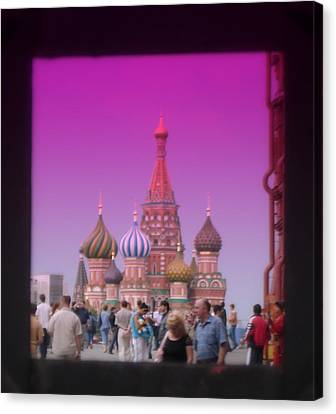 Red Square Peak Canvas Print by Funkpix Photo Hunter