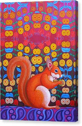 Red Squirrel Canvas Print by Jane Tattersfield