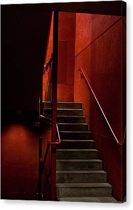 Nosyreva Canvas Print - Red Stairs by Elena Nosyreva
