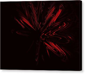 Red Star Canvas Print by Contemporary Art