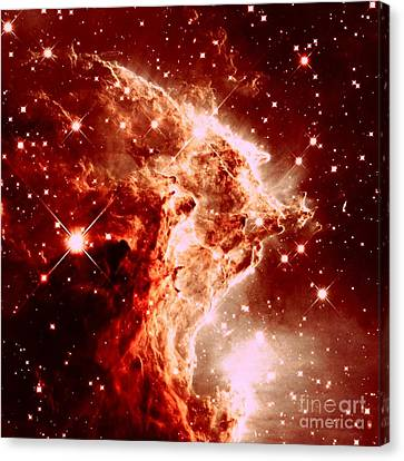 Constellations Canvas Print - Red Stars by Johari Smith