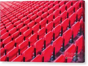 Red Stadium Seats Canvas Print by Edward Fielding