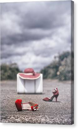 Red Stilettos Canvas Print