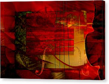 Red Strings Canvas Print