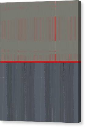Red Stripe Canvas Print by Naxart Studio