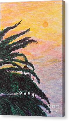 Red Sun Over Beverly Hills  Canvas Print