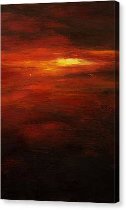 Red Sun Canvas Print by Tara Thelen - Printscapes