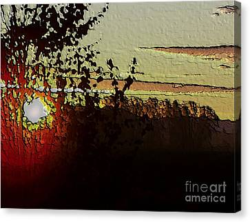 Canvas Print featuring the photograph Red Sunset by Erica Hanel