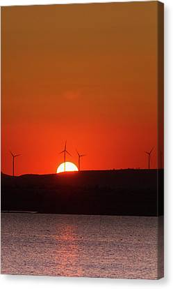 Red Sunset Canvas Print by Stelios Kleanthous