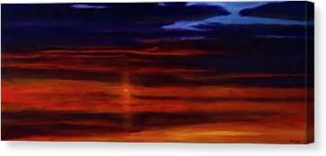 Canvas Print - Red Sunset -west Mesa by Jack Atkins