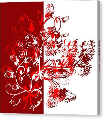 Red Swirl Canvas Print by Svetlana Sewell
