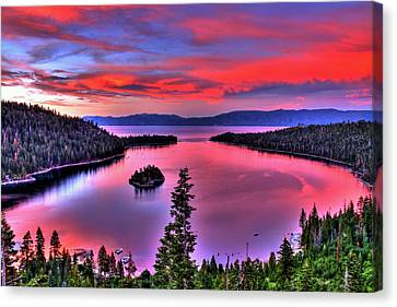 Red Tahoe Canvas Print