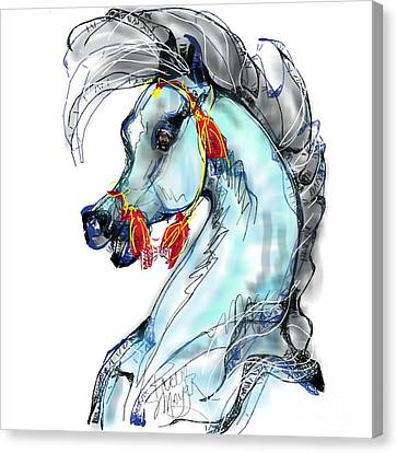 Red Tassle Stallion Canvas Print