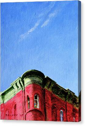 Red Tenement Canvas Print by Peter Salwen