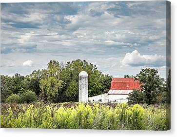 Red Roof Canvas Print - Red Tin Roof by Tom Mc Nemar