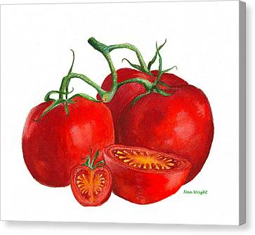 Red Tomatoes Canvas Print by Nan Wright