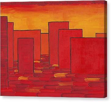 City Scenes Canvas Print - Red Town P1 by Manuel Sueess