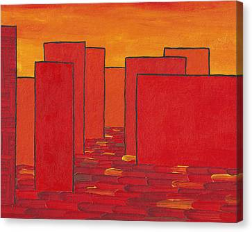 City Scenes Canvas Print - Red Town P2 by Manuel Sueess