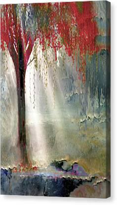 Red Tree 1  Canvas Print by Todd Krasovetz