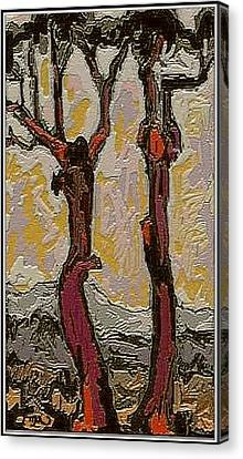 Red Trees Rt2 Canvas Print by Pemaro